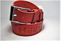 Ремень мужской кожаный 45мм. Ремень из цельной кожи Hugo Boss