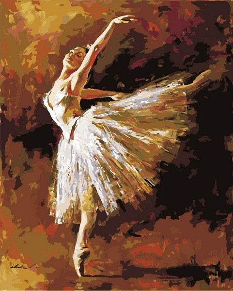 Раскраски по номерам 40×50 см. Искусство танца Художник Андрей Атрошенко