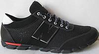 New Balance черные мужские кроссовки сетка весна лето осень обувь большого размера