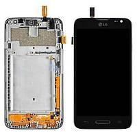 Дисплей (экран) для LG D320 Optimus L70, D321 Optimus L70, MS323 + с сенсором (тачскрином) и рамкой черный