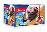 Швабра-вертушка з віджимом VILEDA EasyWring&Clean Turbo (комплект для прибирання Ізі Вринг Турбо Віледа) Чехія, фото 2
