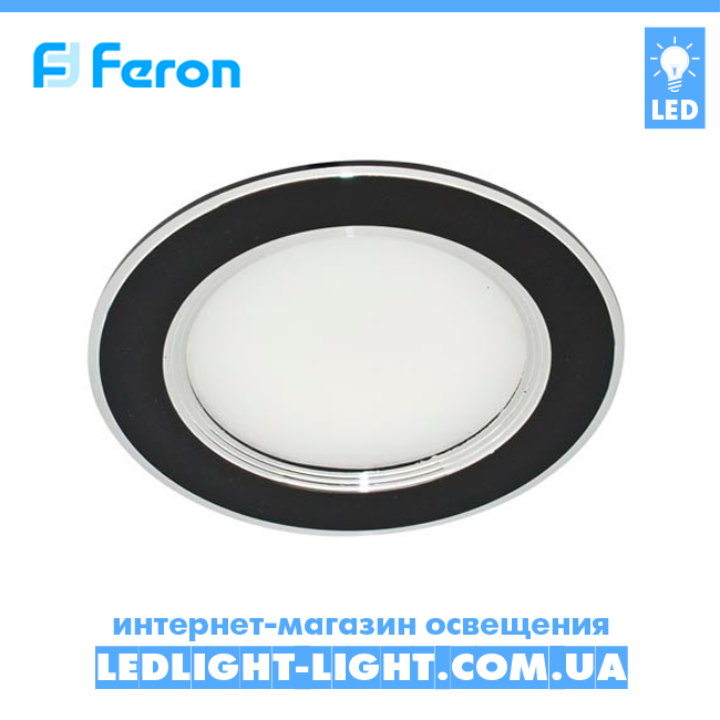 Врезная светодиодная панель Feron AL527 5W ,черный, нейтральный 4000К.