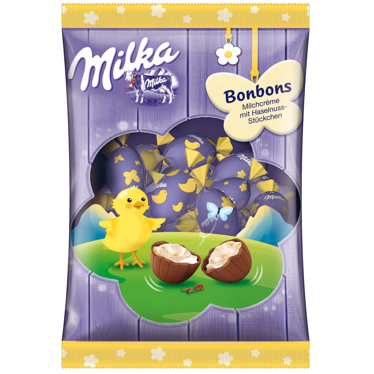 Шоколадные яички Milka «Bonbons Milchcrème Ostern» (С молочным кремом), 86 г.