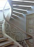 Ковані сходи, огородження сходів, фото 9