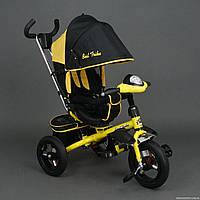 Трехколесный велосипед Best Trike 6590, надувные колеса, желтый