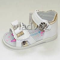 Босоножки сандалии для девочки белые Jong Golf 24р.