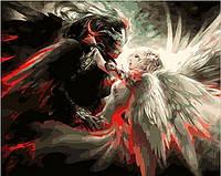 Картины по номерам 40×50 см. Ангел и Демон