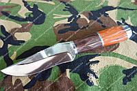 """Нож туристический """"клык вепря"""" сталь 440с +кожаный чехол"""