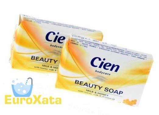 Мыло кусковое Cien Beauty Soap Milk & Honey (150гр)