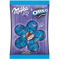 Шоколадные яички Milka «Eier Oreo» (С кусочками печенья Oreo), 86 г.