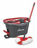 Швабра-вертушка з віджимом VILEDA EasyWring&Clean Turbo (комплект для прибирання Ізі Вринг Турбо Віледа) Чехія, фото 8