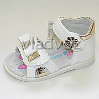 Босоножки сандалии для девочки белые Jong Golf 26р.