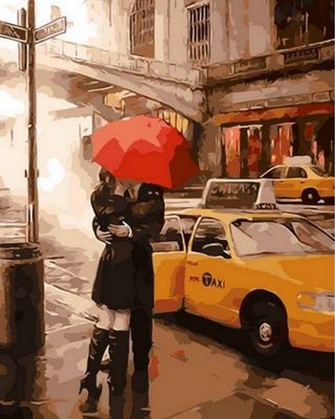 Картины по номерам 40×50 см. Под зонтом счастья Художник Даниэль Дель