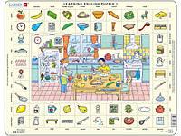 Пазл рамка-вкладыш Учим английский. Кухня Lasren серия Макси (EN1)