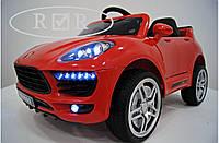 Детский электромобиль КХ7878 Porsche Порше Макан на резиновых EVA колёсах, дитячий електромобіль, красный