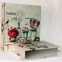 """Книга-шкатулка """"Семья"""" на магните набор 2в1 327-1М"""