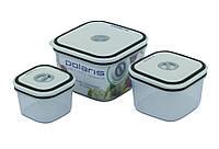 Набор контейнеров для микроволновой печи 3шт Polaris МК 03 СМ