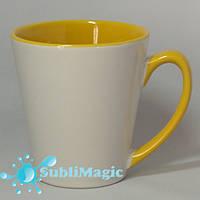 Чашка сублимационная LATTE  Желтая