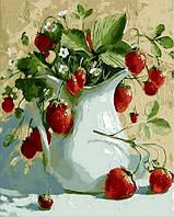 Картины по номерам 40×50 см. Кувшинчик с земляникой Художник Павлова Мария