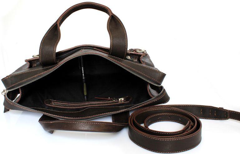 9a27002f4133 Кожаная сумка Crossbody Mykhail Ikhtyar, Ikhtyar-6749 коричневый, цена 3  694 грн., купить в Киеве — Prom.ua (ID#518181165)