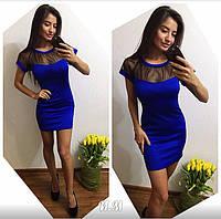 Женское модное платье с сеткой (3 цвета) Турция, фото 1