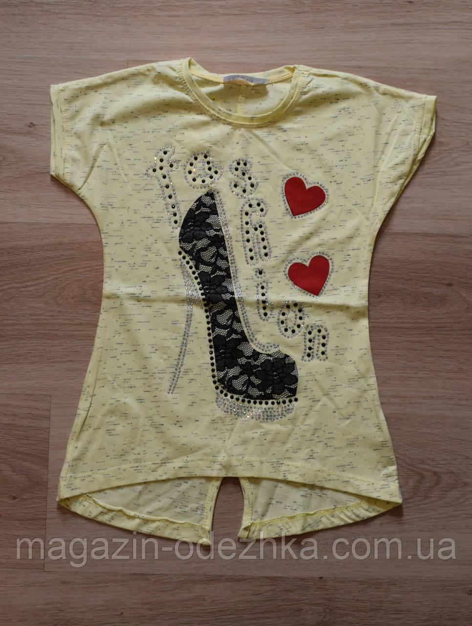 """Модная футболка для девочки 116-134 рост. Турция """"Safari"""""""