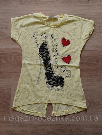 "Модная футболка для девочки 116-134 рост. Турция ""Safari"", фото 2"