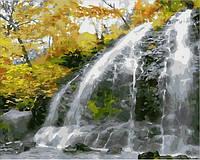Картини по номерах 40×50 см. Водопад и золотые листья
