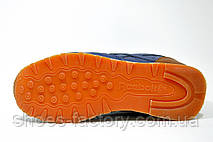 Кроссовки унисекс Reebok Classic Leather, Dark Blue\Brown, фото 3