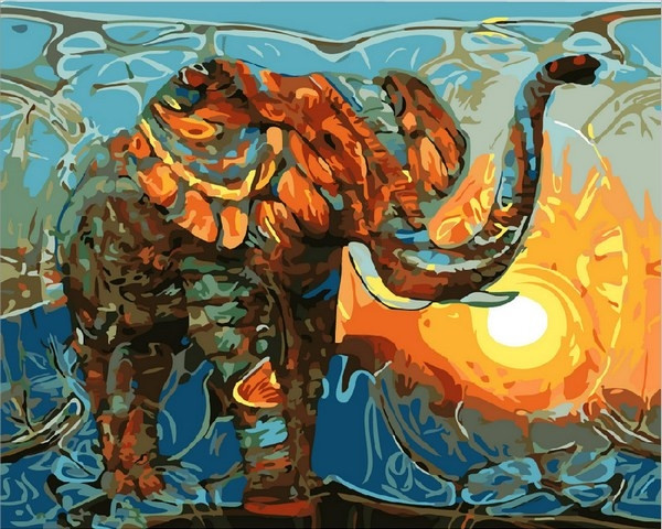 Набор для рисования 40×50 см. Индийские мотивы
