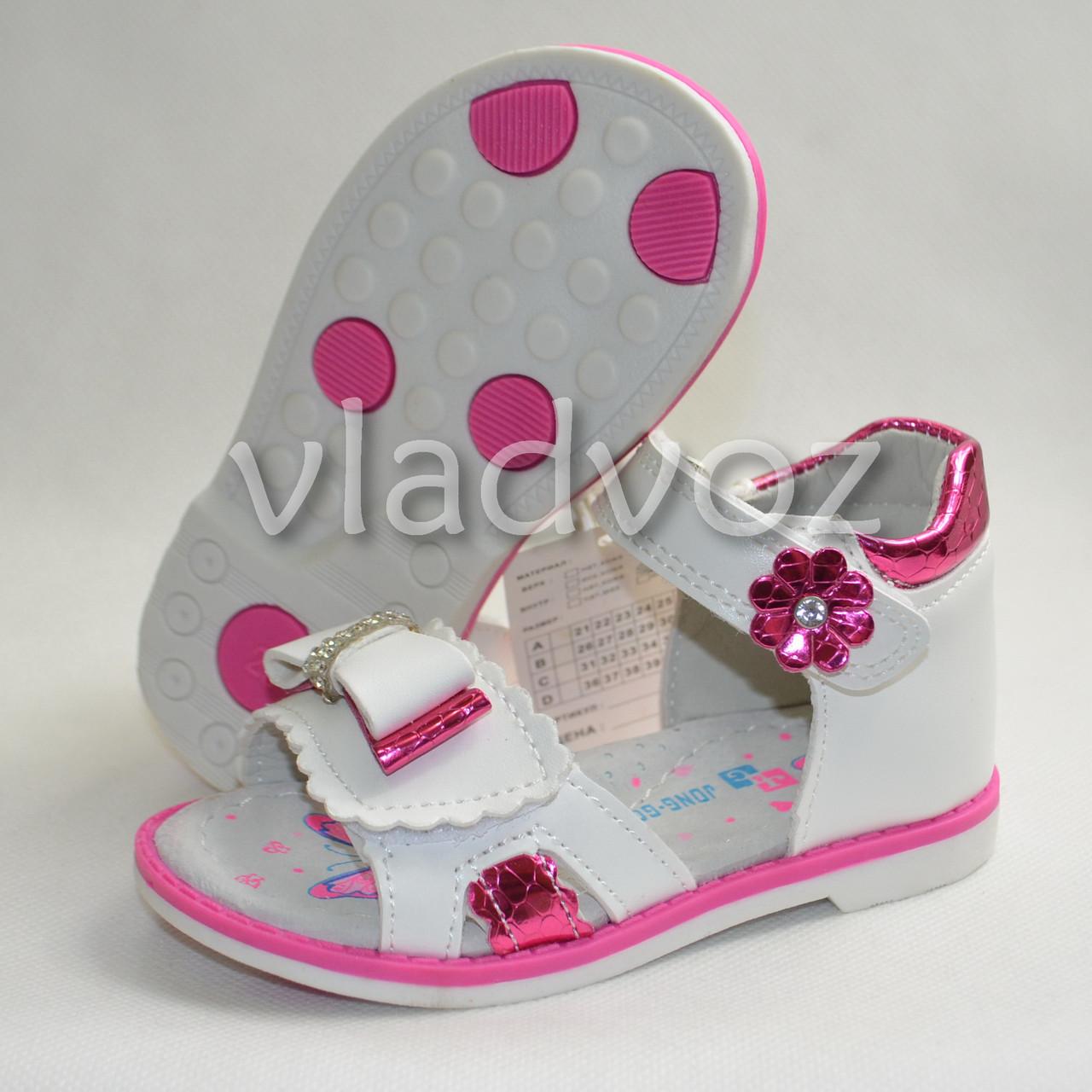 Босоножки сандалии для девочки розовые Jong Golf