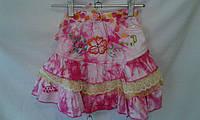 Детская юбка  для девочки 4-8 лет,розовая