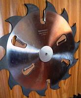 Пила дисковая D350-d50/60/70/80-B4,2/2,8-z24+4 для продольного распила древесины в многопильных станках