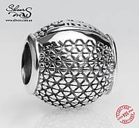 """Серебряная подвеска-шарм Пандора (Pandora) """"Шар 1424"""" для браслета"""
