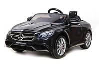 Эл-мобиль T-799 Mercedes S63 AMG BLACK легковая на р.у. 6V7AH с MP3 120*70*52 ш.к. /1/