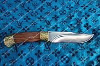 Универсальный охотничий нож из высокоуглеродистой стали +чехол из кожи