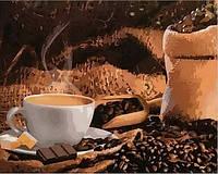Картины по номерам 40×50 см. Кофе с шоколадом