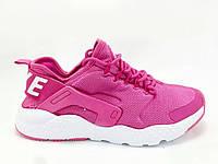 Женские кроссовки Nike Huarache, плотная сетка, розовые / кроссовки для фитнеса женские Найк Хуарачи, стильные
