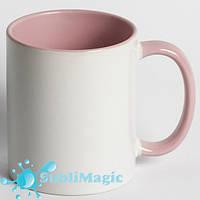 Чашка сублимационная цветная внутри РОЗОВАЯ