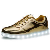 Светящиеся LED кроссовки LEDKED Glance Gold