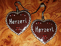 """Серьги """"Шоколадное Сердце""""."""