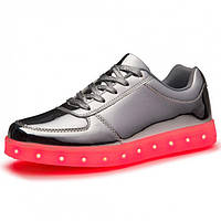 Светящиеся LED кроссовки LEDKED Glance Silver