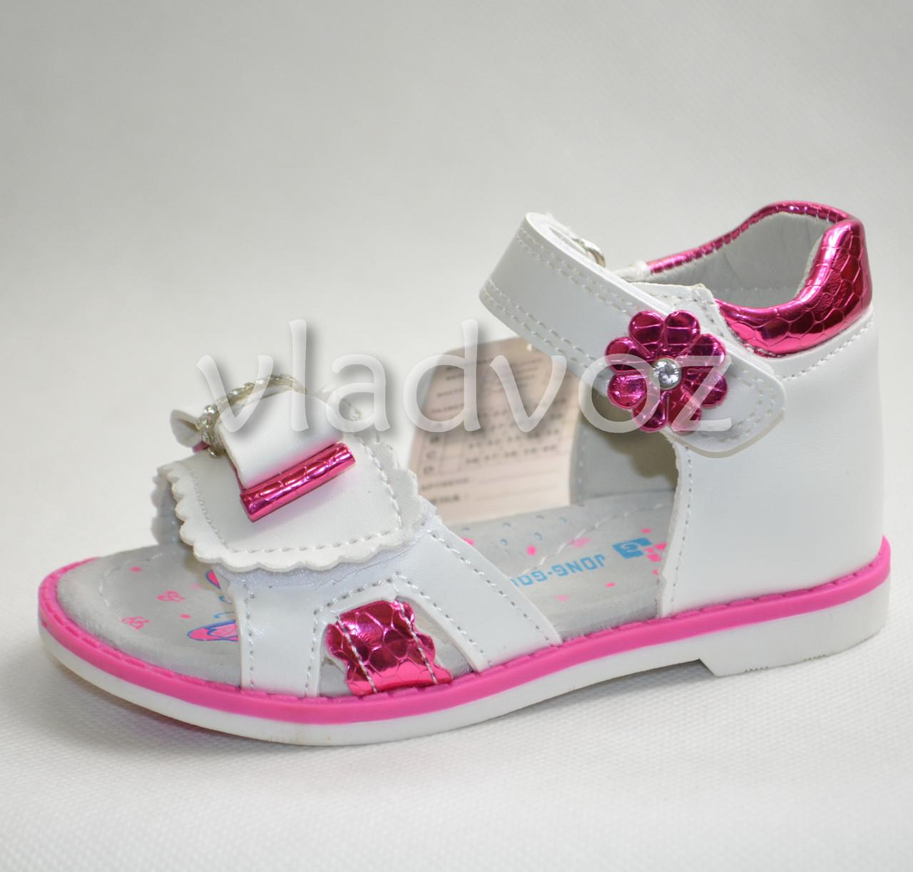 Босоножки сандалии для девочки розовые Jong Golf 24р.
