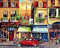 Картины по номерам 40×50 см. Улочки Парижа, фото 1