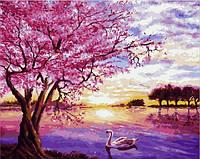 Картины по номерам 40×50 см. Закат в розовых тонах Художник Энн Мари Бон, фото 1