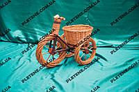 Украшения для дачи: велосипед из лозы