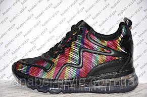 Кроссовки женские яркие модные на шнуровке, фото 2