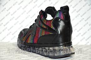 Кроссовки женские яркие модные на шнуровке, фото 3