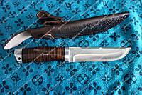 Универсальный охотничий нож ,рукоять наборная кожа  ,сталь 440с