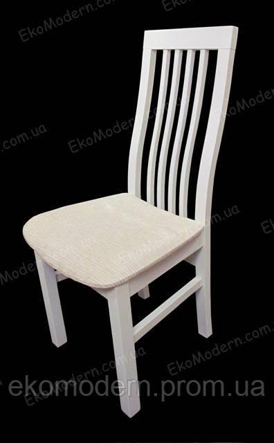 Стул деревянный КОРНЕР+ белого цвета для дома, кафе и ресторана
